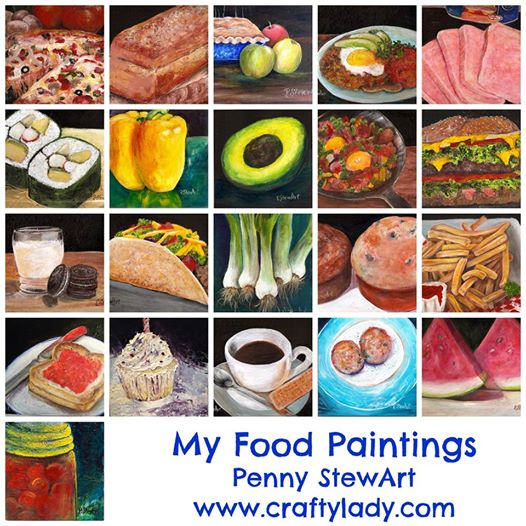 Collage of Food Paintings