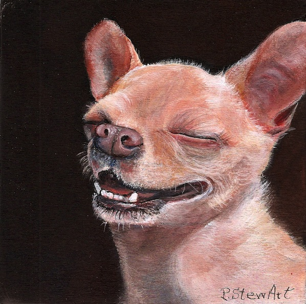 Orion, Chihuahua Pet Portrait, Dog Art